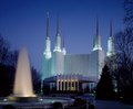 Washington D.C. Temple of The Church of Jesus Christ of Latter-day Saints, located along the Capital Beltway in Kensington, Maryland LCCN2011631535.tif