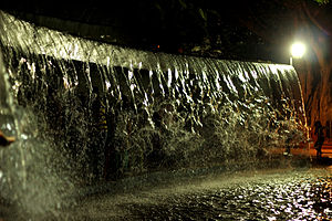Lumbini Park - Water fall at Lumbini Park