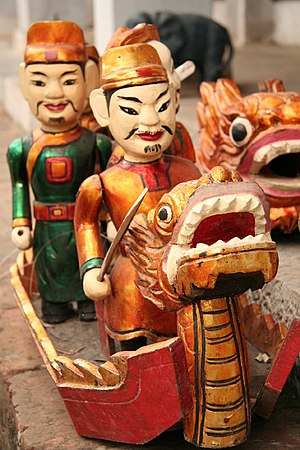 Lê Lợi - Water puppet of Lê Lợi on the Lake of the Returned Sword