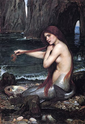 Hebridean mythology and folklore - A Mermaid by John William Waterhouse.