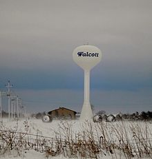 Watertower Walcott, Iowa.JPG
