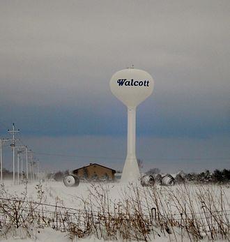 Walcott, Iowa - Image: Watertower Walcott, Iowa