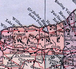 Wayne County, New York - Wayne County detail of 1885 atlas