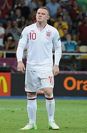 Wayne Rooney playing for England in 2012