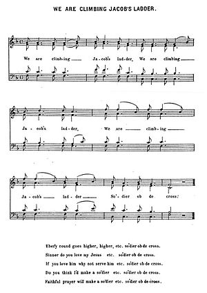 We Are Climbing Jacob's Ladder - Image: We Are Climbing Jacob's Ladder sheet music