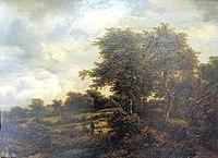 Weimar, Schlossmuseum, JJacob Isaacksz. van Ruisdael, Landschaft mit Hütten und Gesträuch.JPG