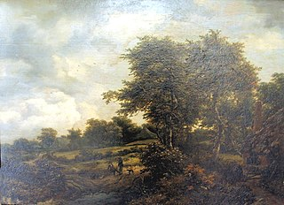 Landscape with Thatched Cottages and Thicket