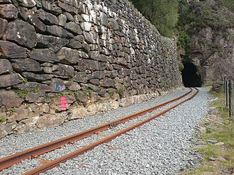 Aberglaslyn Pass - The longest of the railway tunnels on the Welsh Highland Railway