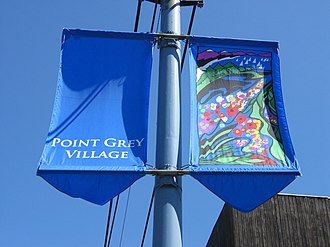West Point Grey - Street banners along 10th Avenue, near Sasamat