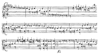 Johann Paul von Westhoff - The beginning of the chromatic gigue from Partita No. 1 in A minor for solo violin by Westhoff.