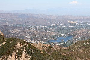 Conejo Valley - Lake Sherwood with Westlake Village in distance.