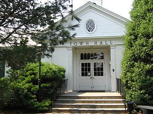 Weston, Connecticut - Entrance to Town Hall