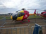 Westpac Life Saver Rescue Helicopter Service (VH-ECP) Eurocopter EC120B, owned and operated by Microflite, on display at the 2015 Australian International Airshow.jpg