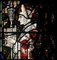 Wexford Church of the Assumption South Aisle Window Harry Clarke The Madonna with Sts Aidan and Adrian Detail Saint Aidan 2010 09 29.jpg