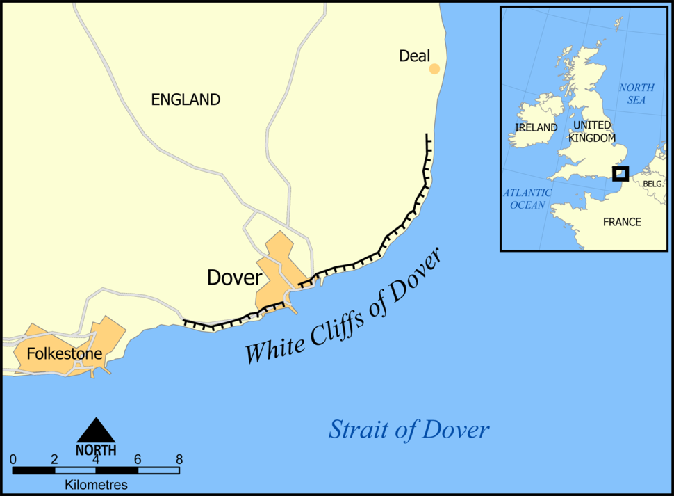 White Cliffs of Dover map