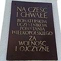 Większa tablica umieszczona na pomniku Powstańców Wielkopolskich w Pogorzeli.jpg