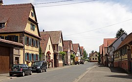 The main road in Wickersheim