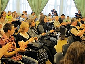 Wiki Party in Moscow 2013-05-18 (Welcome; Krassotkin; 07).JPG