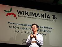 Wikimanía 2015 - Day 4 - Luis von Ahn conference - LMM (20).jpg