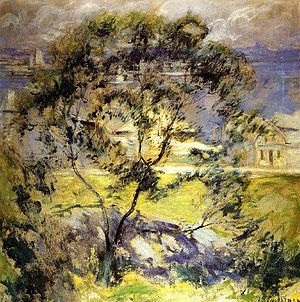John Henry Twachtman - Image: Wild Cherry Tree John Twachtman c.1901