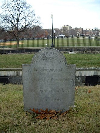 Central Burying Ground, Boston - Image: William Raymond Central Burying Ground 2004 Boston Common 2961221800