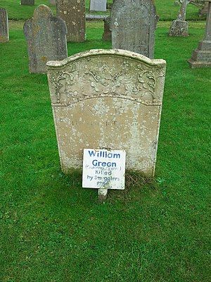 Old Hunstanton - Image: William Green grave, a photo taken on 25 December 2012