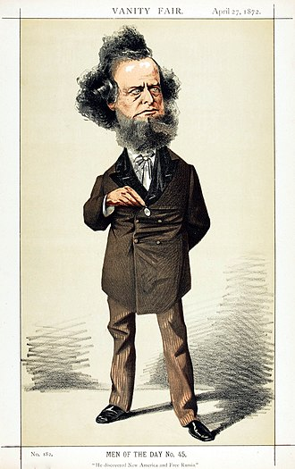 "William Hepworth Dixon - ""He discovered New America and Free Russia"" Dixon as caricatured by Adriano Cecioni in Vanity Fair, April 1872"