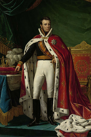 William I of the Netherlands - William in ceremonial robes, by Joseph Paelinck, ca. 1818–19