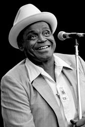 American blues musician Willie Dixon performing in 1981