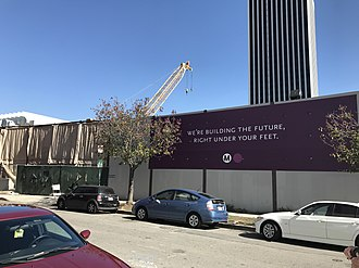 Wilshire/Fairfax station - The Wilshire/Fairfax Metro station, currently under construction