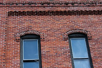 North Wisconsin Lumber Company Office - Image: Window Detail, North WI Lumber Co