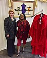 With Ethel Golliday, owner of Murfee's Boutique in Benton Harbor. (30250614816).jpg