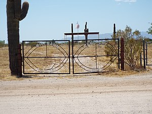 Wittmann, Arizona - Image: Wittmann Wittmann Cemetery 1917