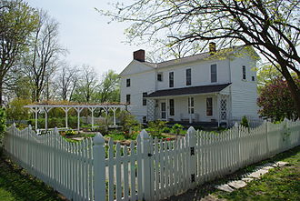 Hull–Wolcott House - Looking across the garden at the Hull–Wolcott House