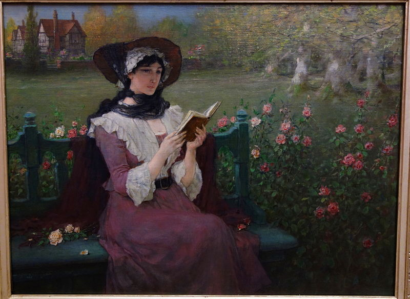 File:Woman Reading by George Henry Boughton, c. 1900, oil on canvas - Albany Institute of History and Art - DSC08064.JPG