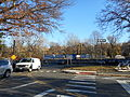 Woodlwan Metro-North Station; Parking Lot Entrance.JPG