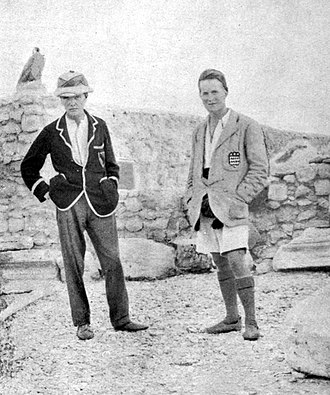 T. E. Lawrence - Leonard Woolley (left) and Lawrence in their excavation house at Carchemish, c. 1912