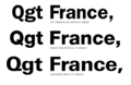 Word France set in Franklin Gothic, Helvetica, and Univers typefaces.png