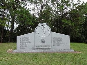 Veterans Park Amphitheater - World War II Memorial located inside Veterans Park