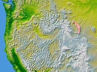 Bighorn Mountains - Image: Wpdms nasa topo bighorn mountains
