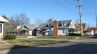 Wysor Heights Historic District - Wysor Heights in Muncie, January 2012