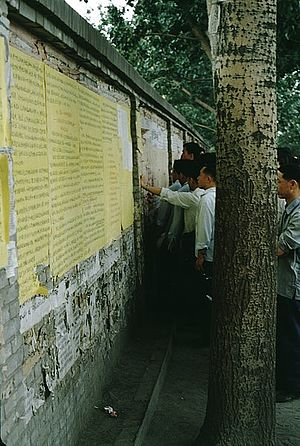 Democracy Wall - Xidan Wall, 1979