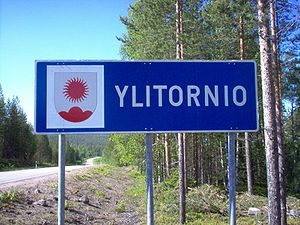 Ylitornio - Ylitornio welcome sign