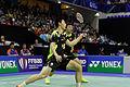Yonex IFB 2013 - Quarterfinal - Liu Xiaolong - Qiu Zihan vs Mathias Boe - Carsten Mogensen 05.jpg