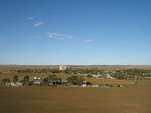 Yongala, South Australia - Scene from the hill overlooking Yongala