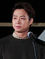 "Yoochun at Busan International Film Festival ""Sea Fog"" outdoor stage greeting, 3 October 2014 03.jpg"