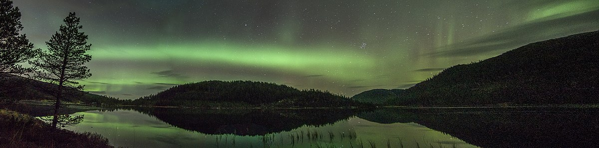 Aurora boreal in Norway.