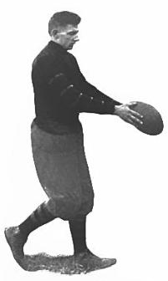 1912 Vanderbilt Commodores football team - Zach Curlin drop kicked a field goal against Harvard.
