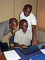 Zambia ESNET teachers and coordinator at Focus Group Meeting in Kitwe, November 2009 resize (4445780844).jpg