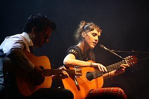 Zaz (singer) - Zaz performing with Benoit Simon at the TFF Rudolstadt festival in 2011